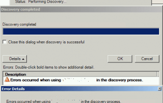 Citrix Error Occurred During Discovery Process