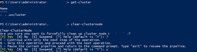 Clear-ClusterNode