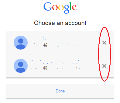 Remove Account Chooser