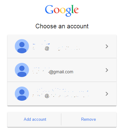 Google Account Chooser