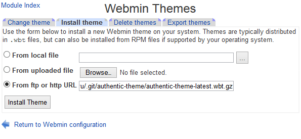 Install Authentic Theme