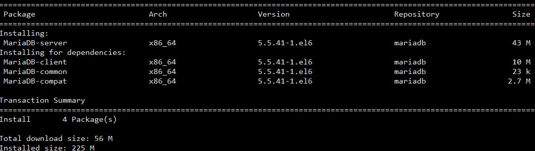 Install MariaDB 5.5