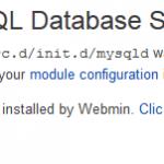 MariaDB: Webmin MySQL Startup Script /etc/rc.d/init.d/mysqld Was Not Found