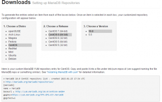 MariaDB 10.0 Repo Configuration Generator