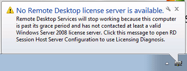 remote desktop license server registry key