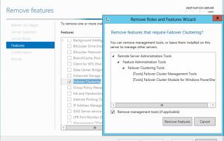 Remove Failover Clustering