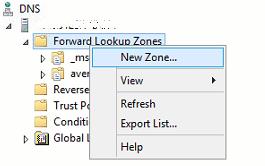 New DNS Zone