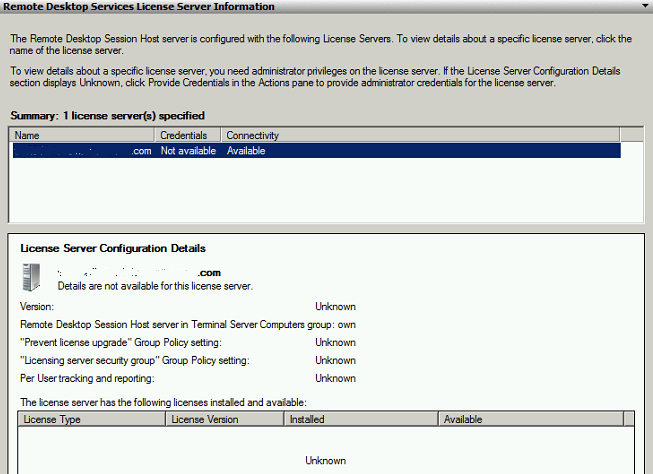 Windows Server 2008 R2 Terminal Services Licensing