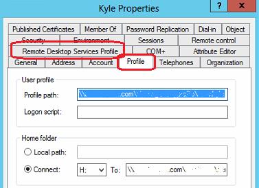 Roaming User Profile and Remote Desktop Services Profile