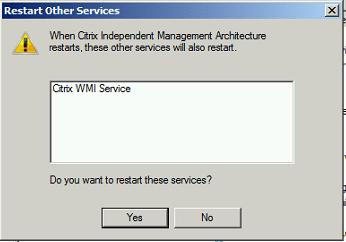 Restart Citrix IMA Service