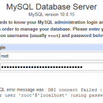 Virtualmin: You Do Not Have Access to This MySQL Database After Changing Password