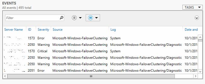 Windows Server Cluster Node Error