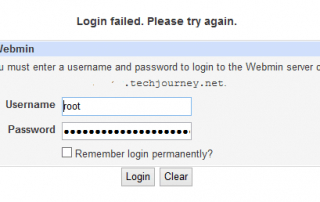Webmin Login Failed