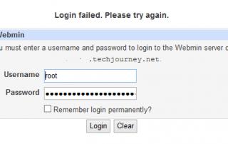 Webmin Login Failed