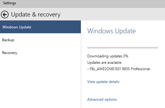 Windows 10 Download New Preview Build