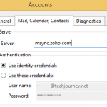 Configure Zoho Mail via Exchange ActiveSync Support in eM Client