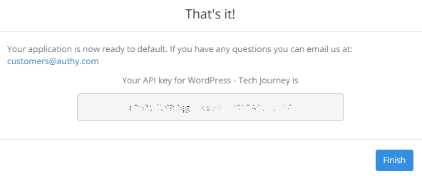 Authy API Key
