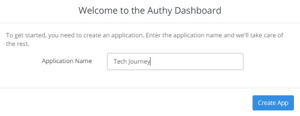 Create an App in Authy