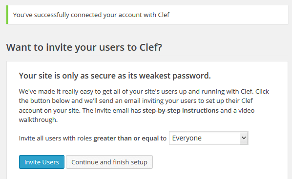 Clef Invite Users