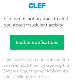 Clef Notifications