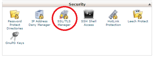 cPanel SSL/TLS Manager