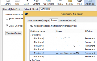 Delete Security Exceptions
