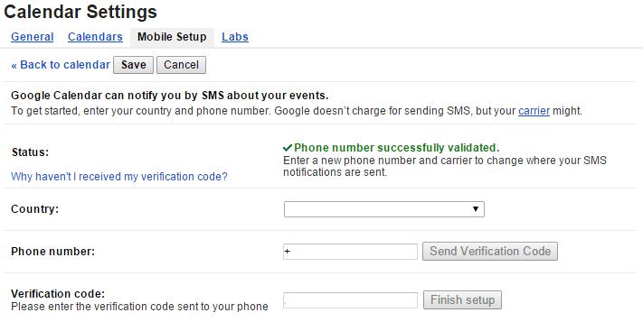 Google Calendar Mobile Setup