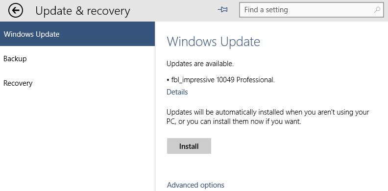 Installating Windows 10 Build 10049