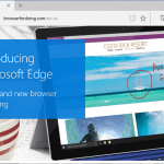Microsoft Edge Web Browser (Project Spartan) is IE Replacement in Windows 10