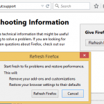 Reset & Refresh Firefox Browser Settings to Original Defaults