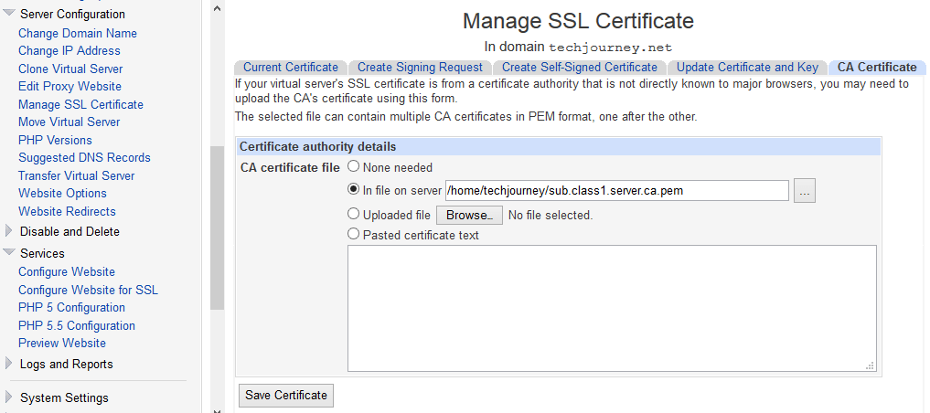 Install Intermediate Ca Certificate Chain Cert In Apache Httpd
