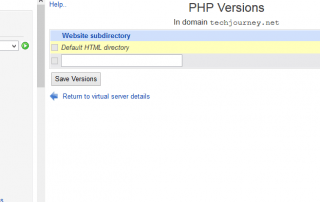 Assign Another PHP Version for Virtual Server