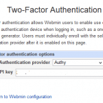 Set Up 2FA (Two-Factor Authentication) in Webmin with Authy