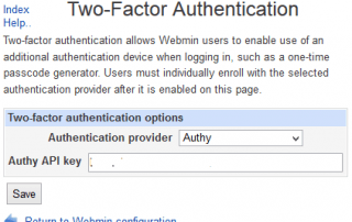 Webmin with Authy 2FA