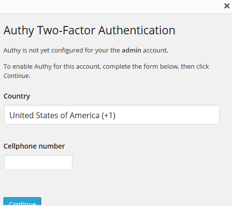 Enable Authy 2FA in WordPress via Mobile Phone