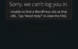 Cannot Log In WordPress Mobile App