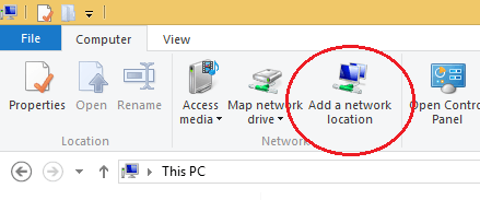 Add a Network Location