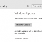 Open & Access Windows Update in Windows 10
