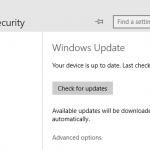 Access Windows Update in Windows 10