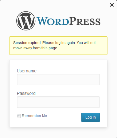 WordPress Session Expired Login Again Popup