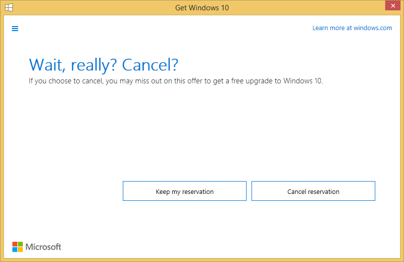 Cancel Windows 10 Upgrade Reservation