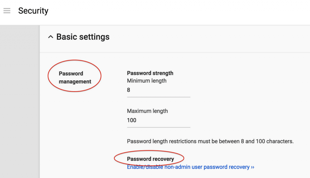 Reset Own User Password in Google Apps