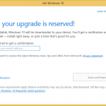 Reserve Windows 10 Upgrade