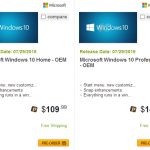 Windows 10 Home & Pro OEM Licenses Price List