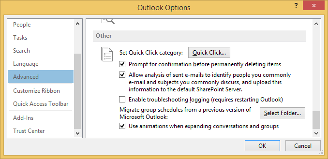 Outlook No Prompt for Confirmation on Deletion