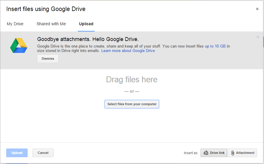 Send Large & Big Files or Attachments in Gmail via Google Drive ...