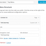 Add & Display Text on WordPress Navigation Menu