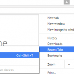 Restore Previous Session & Reopen Last Closed Tabs in Google Chrome