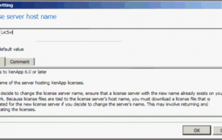 Citrix License Server Host Name