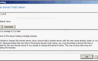 Citrix License Server Host Name